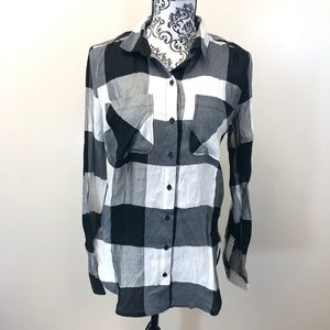 Abercrombie & Fitch Plaid Button Down Tunic Shirt